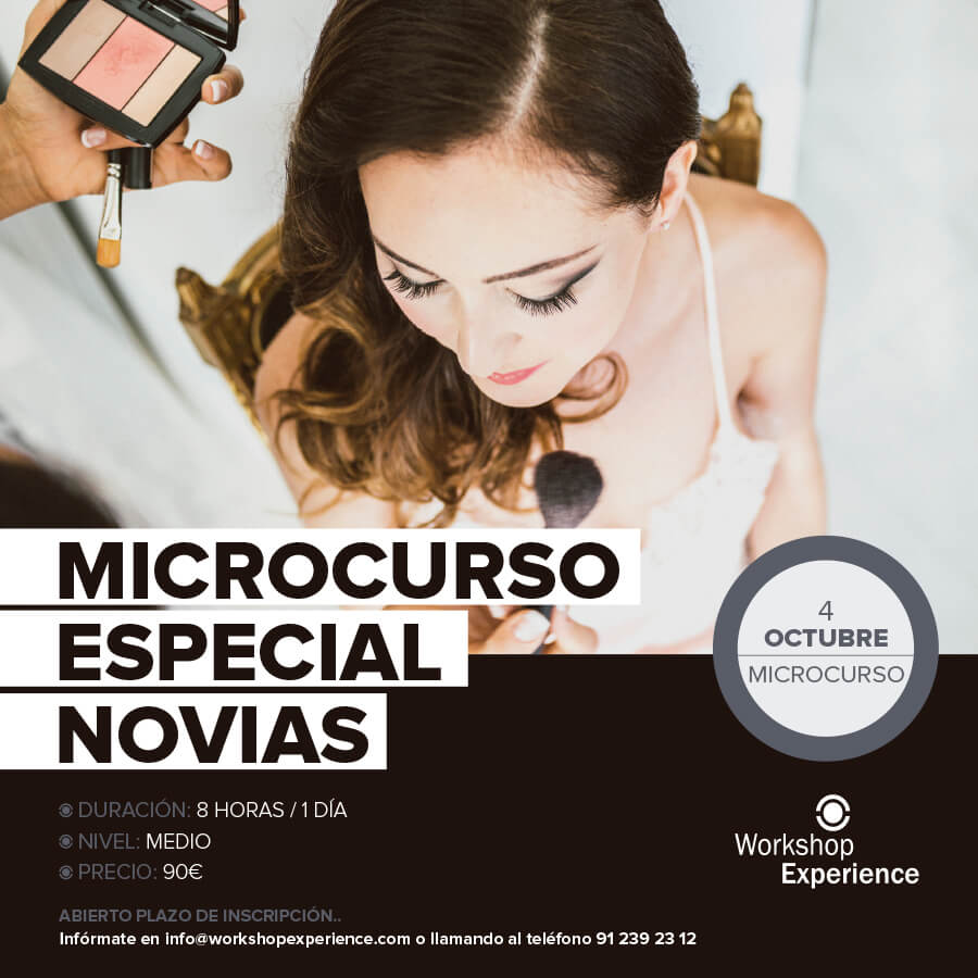 Cartel del curso especial novias de maquillaje