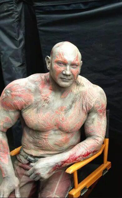 Maquillaje y caracterización de Drax