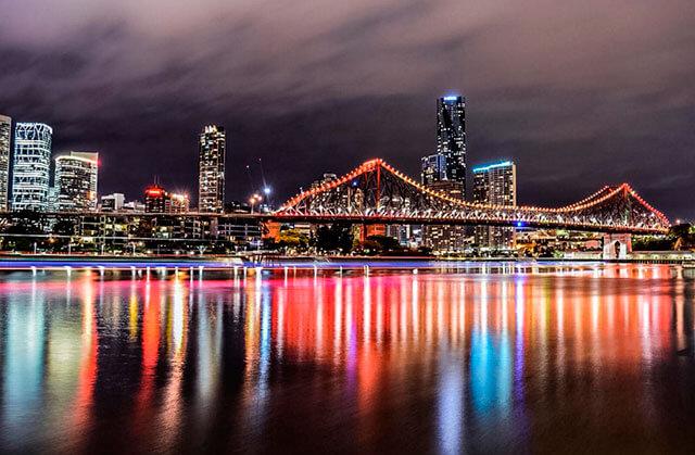 Ciudad nocturna en imagen