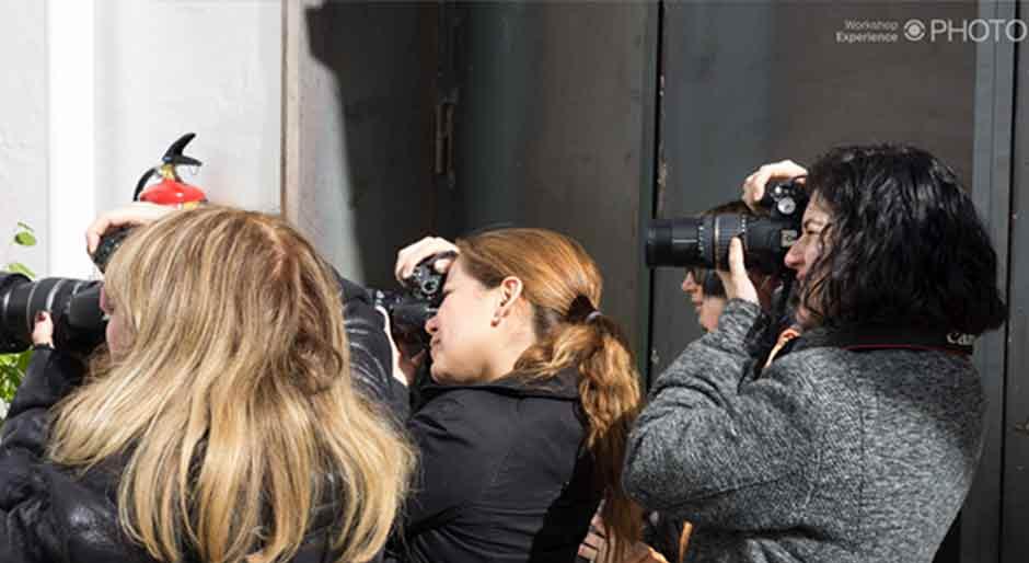 estudiantes con cámara