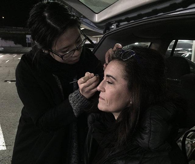 Maquillaje de los alumnos en EnBlancoFilms