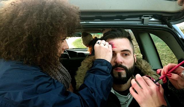 Maquillaje en el cortomatraje de EnblancoFilms
