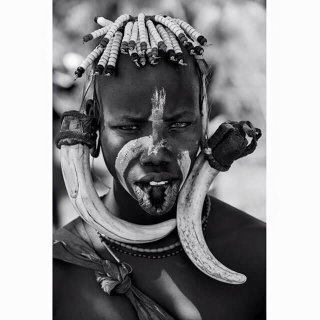 Exposición de las tribus de Etiopía