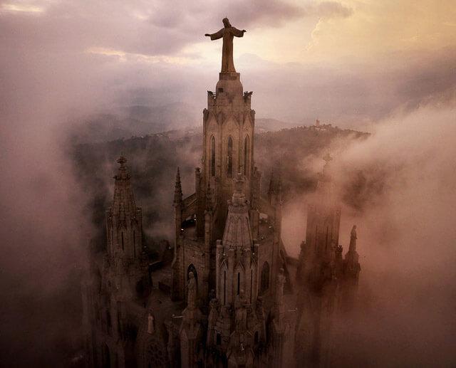 Barcelona a vista de drone