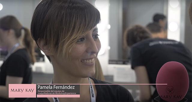 Pamela Fernández, responsable del equipo de maquillaje de Workshop Experience en Mutua Madrid Open