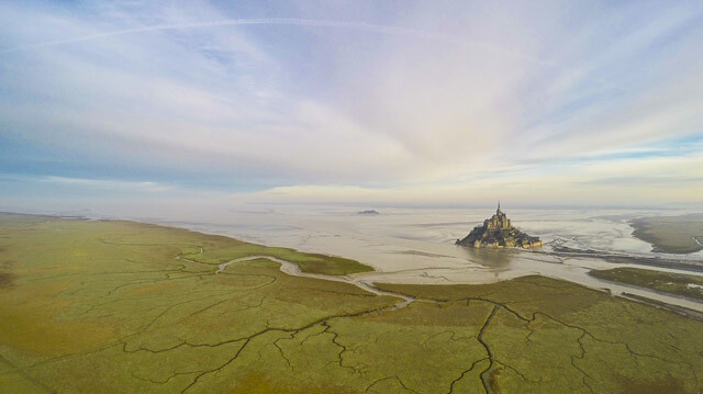 Fotografía aérea de Saint Michel