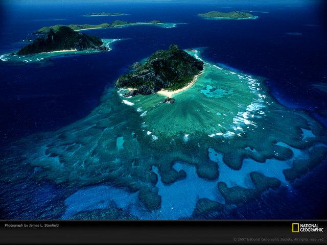 Islas Fiji. Fotografía aérea
