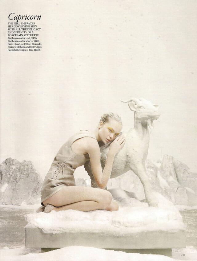 Editorial de moda Vogue