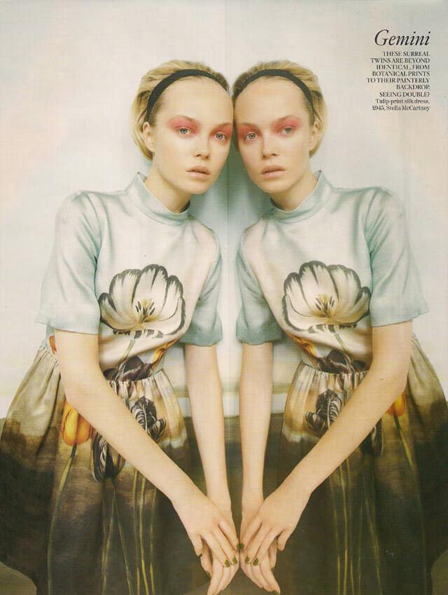 Editorial de moda de Vogue
