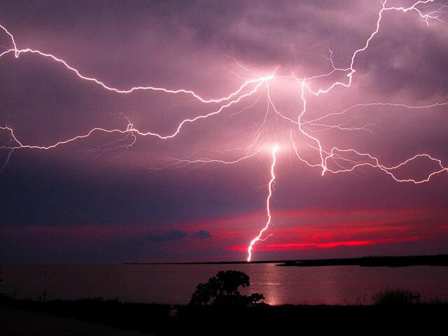 Fotografías de tormentas en el mar