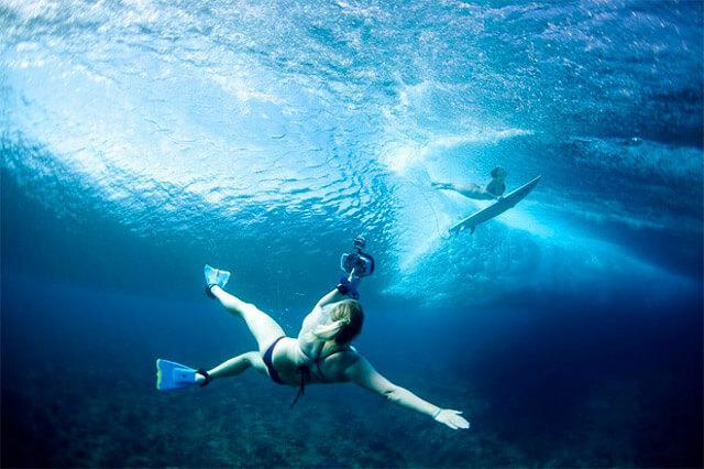 Fotografía de verano bajo el agua