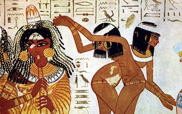 Pintura mujeres egipcias