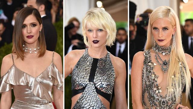 Celebrities con dark lips en la gala MET 2016