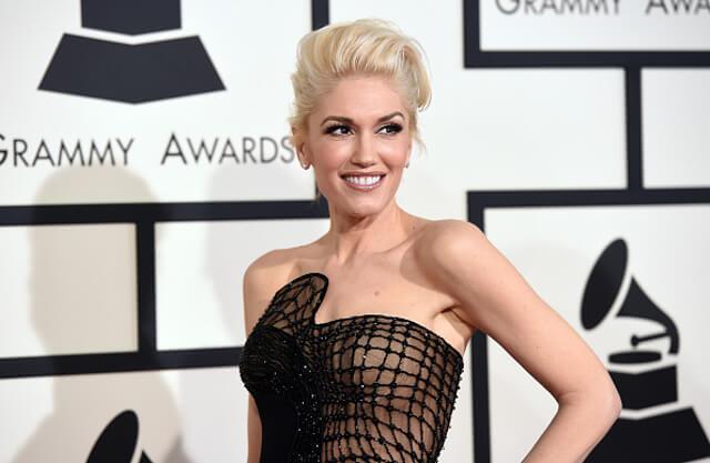 Maquillaje de Gwen Stefani en la gala Grammy 2015