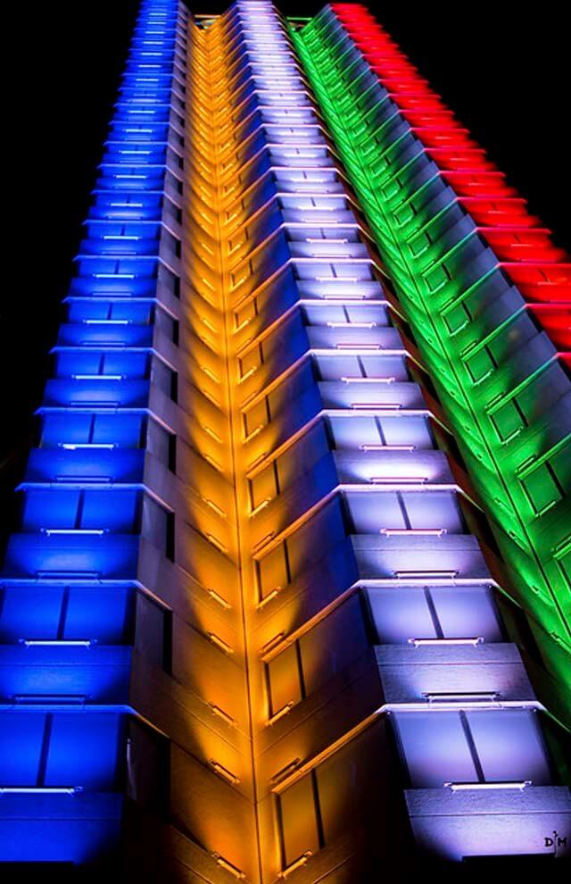 Gestión de color edificio