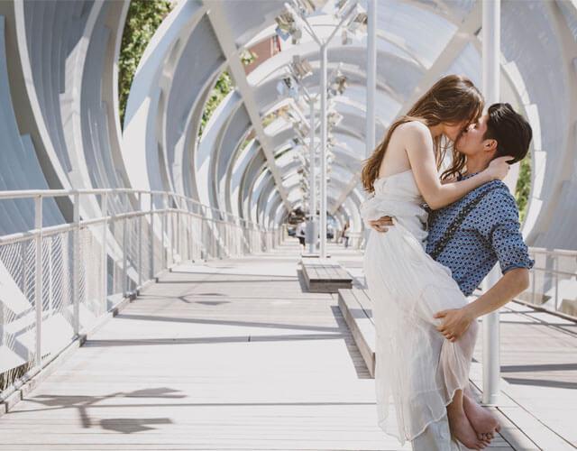 Fotoreportaje de bodas posado