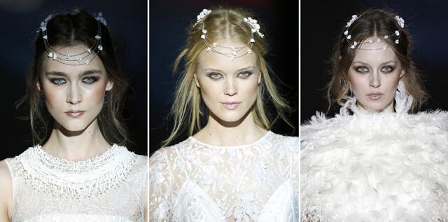 Maquillaje de novias en el desfile de Jesús Peiró