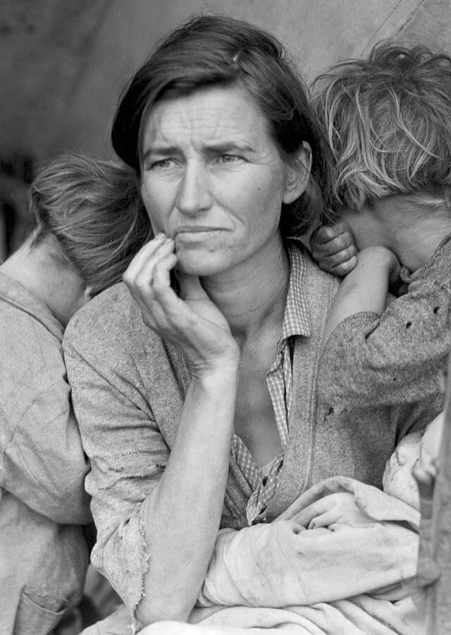 Fotógrafos norteamericanos: Dorothea Lange | La madre migrante. Fuente: Pinterest