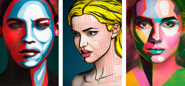 "Maquillaje 3D: ""Art of face"", de Alexander Khokhlov"