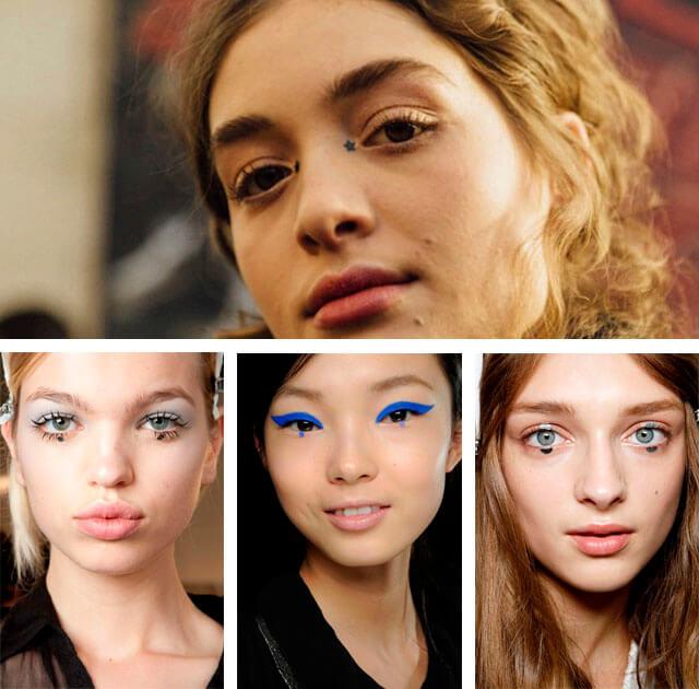 Dot eyeliner: runway