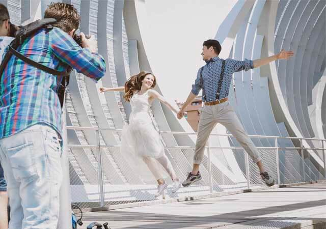 Los novios son los protagonistas absolutos, los errores de fotografía de bodas dependerán de ti y de que captes sus momentos