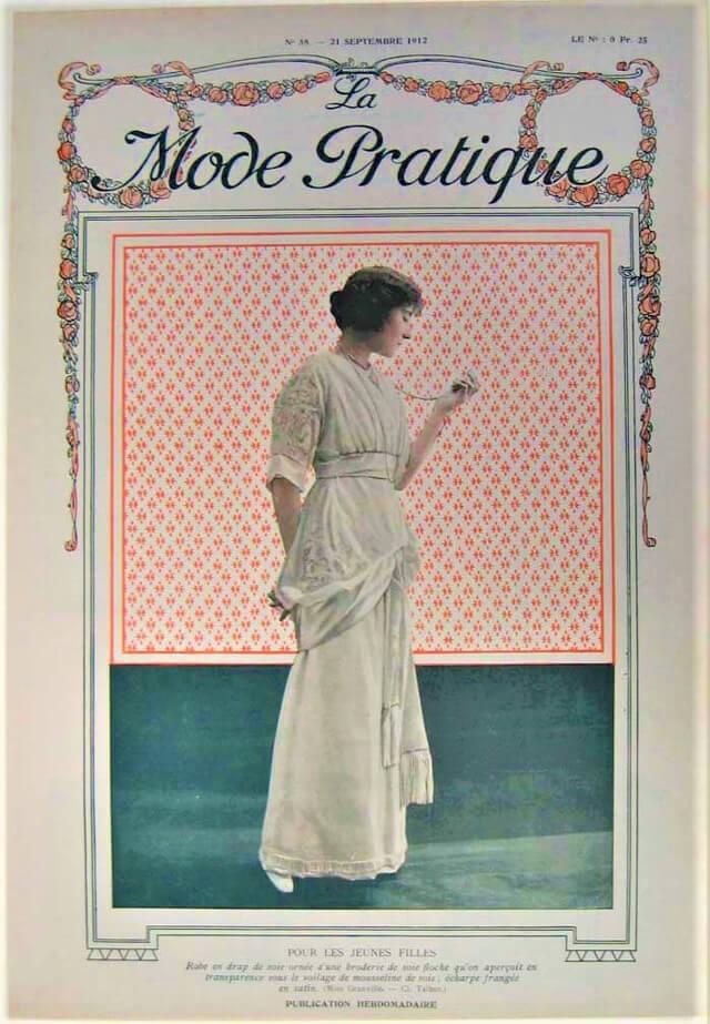 Fotografía de moda: La mode pratique 1892