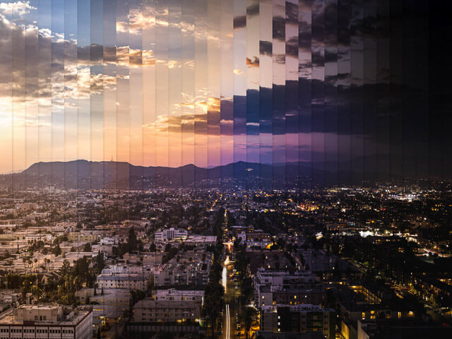 Time slice de la ciudad de los angeles