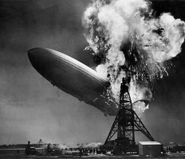 El zepelin más famoso de la historia quedó completamente destruido a causa de un incendio. Uno de los grandes momentos históricos.