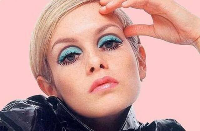 Retrato de la actriz y modelo Twiggy Lawson