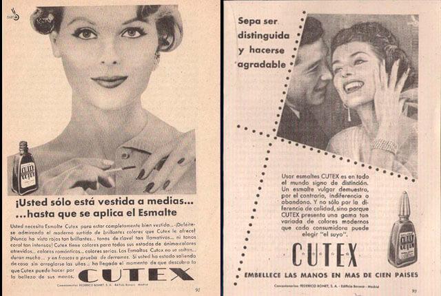 Manicura: anuncios Cutex