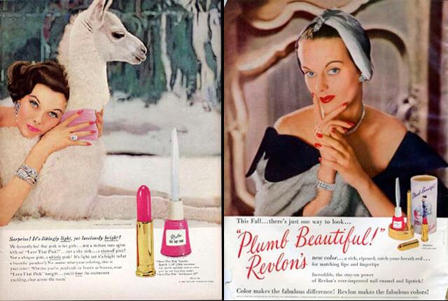 Manicura: anuncios Revlon