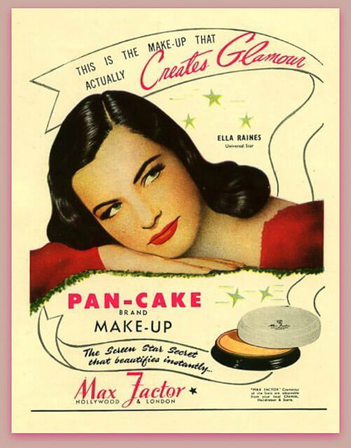 Cartel promocional del maquillaje