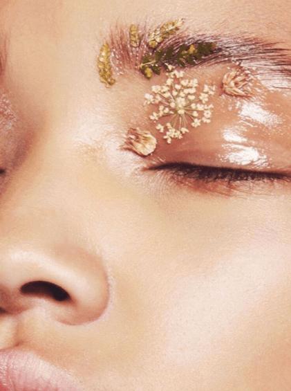 maquillaje flores