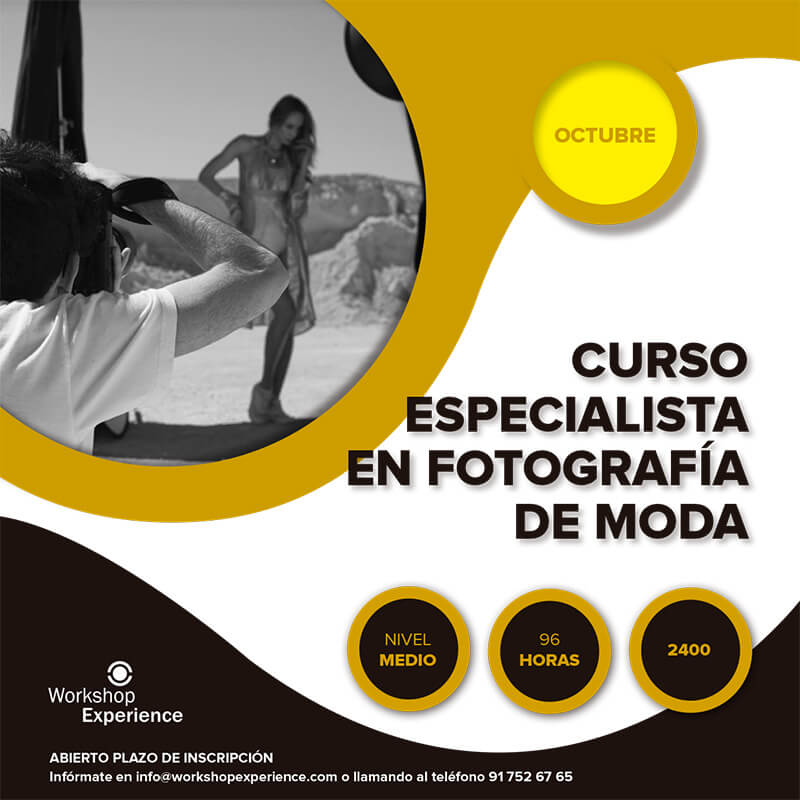 CURSO ESPECIALISTA FOTOGRAFIA DE MODA