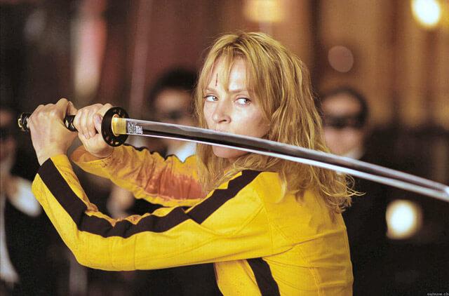 Uma Thurman como Beatrix Kiddo (La Novia)
