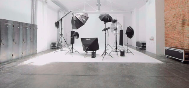 Estudio fotográfico con luz continua