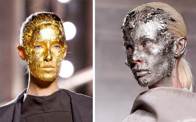 Maquillaje en la pasarela: Rick Owens