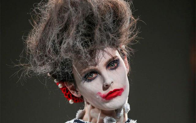 Maquillaje en la pasarela: Thom Browne