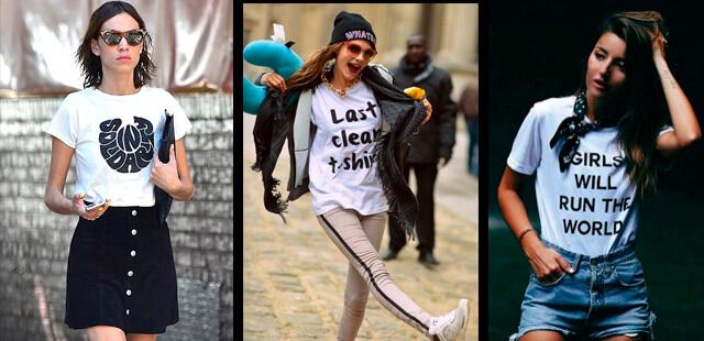 Celebrities luciendo camisetas con mensaje