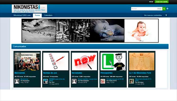 Interfaz Nikonistas.com