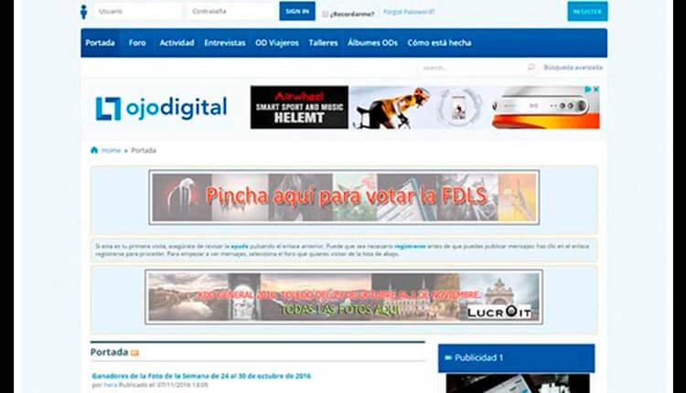 Interfaz de Ojodigital.com