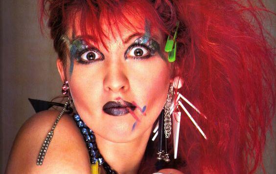 Maquillaje de Cyndi Lauper