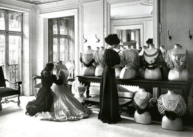 Taller de alta costura de Charles Frederick Worth. París, 1907