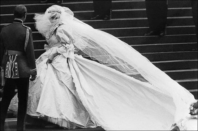 Lady Di en su boda