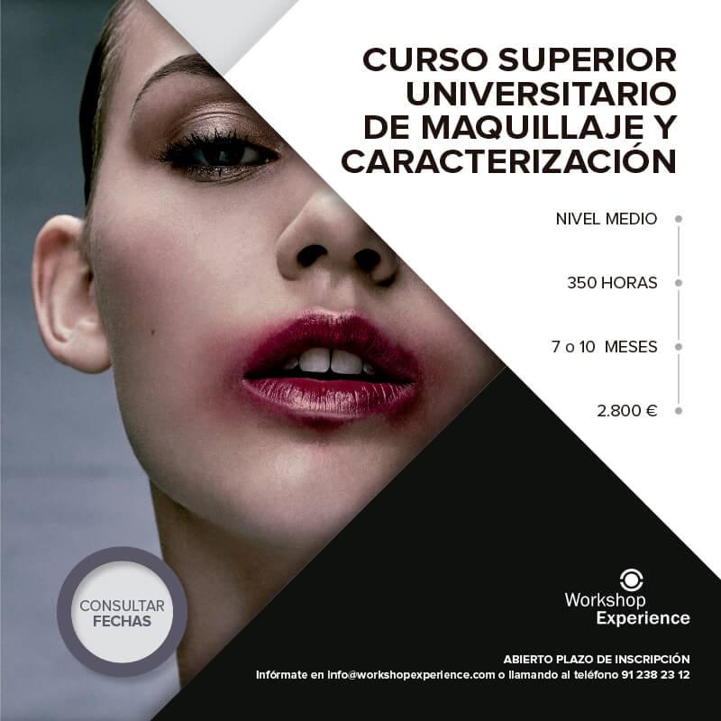 Comienzo del curso superior universitario de maquillaje y - Cursos universitarios madrid ...