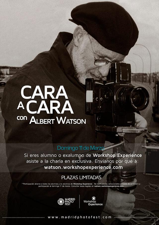 Cartel Albert Watson Fotografiando