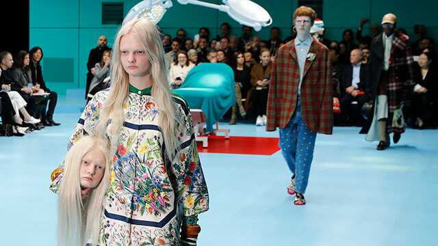 Firma Gucci en Milán Fashion Week 2018