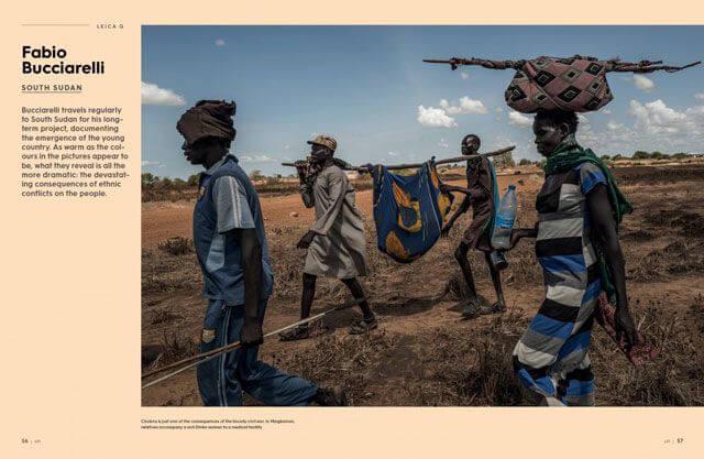 Páginas 56 y 57 de la revista Leica Fotografie Internacional de Febrero de 2018