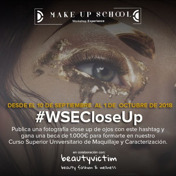 Cartel del concruso de maquillaje #WSECloseUp
