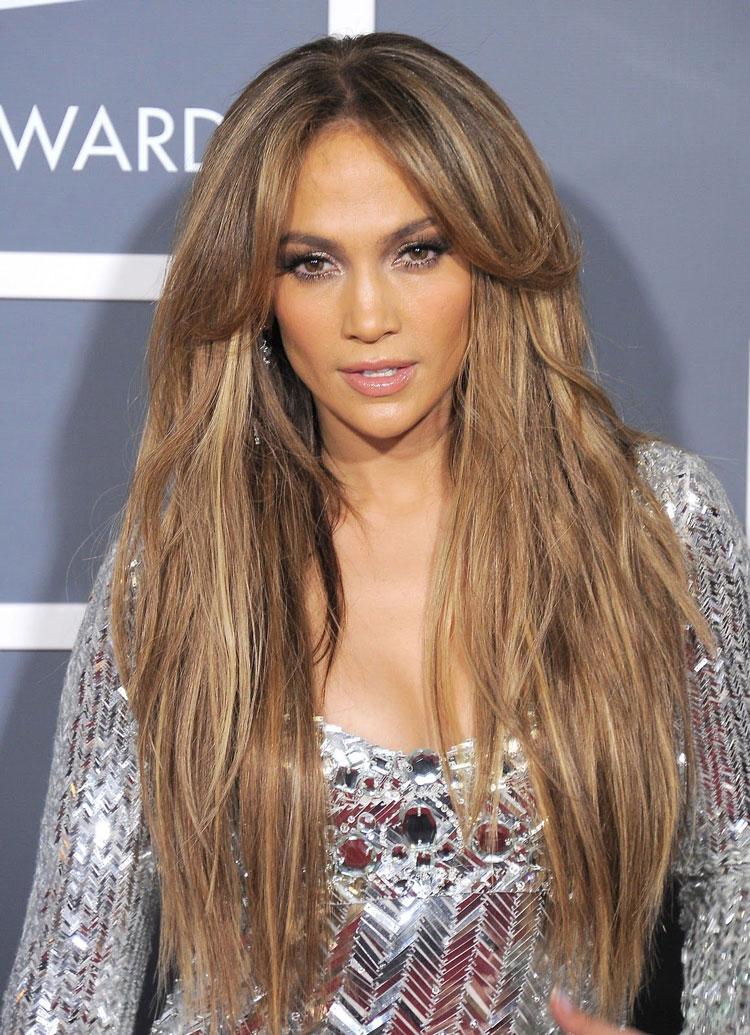 Jennifer Lopez mechas shatush
